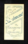 1909 T206  George McBride  Back Thumbnail