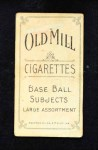 1909 T206  Lucky Wright  Back Thumbnail