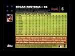 2007 Topps #6  Edgar Renteria  Back Thumbnail