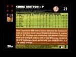 2007 Topps #21  Chris Britton  Back Thumbnail