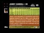 2007 Topps #89  Jamey Carroll  Back Thumbnail