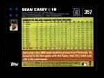 2007 Topps #357  Sean Casey  Back Thumbnail