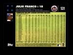 2007 Topps #531  Julio Franco  Back Thumbnail