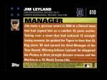 2007 Topps #610  Jim Leyland  Back Thumbnail