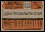 1972 Topps #112  Greg Luzinski  Back Thumbnail