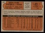 1972 Topps #467  Steve Kline  Back Thumbnail
