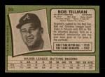 1971 Topps #244  Bob Tillman  Back Thumbnail