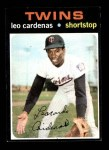 1971 Topps #405  Leo 'Chico' Cardenas  Front Thumbnail