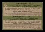 1971 Topps #121   -  Jim Dunegan / Roe Skidmore Cubs Rookies Back Thumbnail