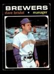 1971 Topps #637  Dave Bristol  Front Thumbnail