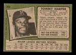 1971 Topps #260  Tommy Harper  Back Thumbnail