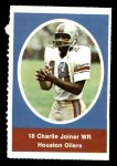 1972 Sunoco Stamps  Charlie Joiner  Front Thumbnail