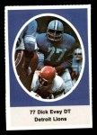 1972 Sunoco Stamps  Dick Evey  Front Thumbnail