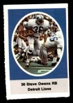 1972 Sunoco Stamps  Steve Owens  Front Thumbnail