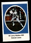 1972 Sunoco Stamps  Larry Walton  Front Thumbnail