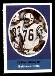 1972 Sunoco Stamps  Fred Miller  Front Thumbnail