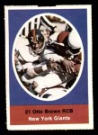 1972 Sunoco Stamps  Otto Brown  Front Thumbnail