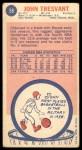 1969 Topps #58  John Tresvant  Back Thumbnail