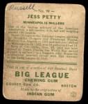 1933 Goudey #90  Jess Petty  Back Thumbnail