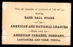 1922 E121-120 American Caramel  Wilbur Cooper  Back Thumbnail