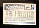 1975 Kellogg's #36  Mike Marshall  Back Thumbnail