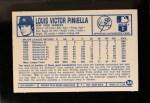 1975 Kellogg's #34  Lou Piniella  Back Thumbnail