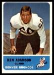 1962 Fleer #37  Ken Adamson  Front Thumbnail