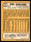 1968 Topps #479  Phil Gagliano  Back Thumbnail