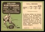 1970 Topps #117  Orland Kurtenbach  Back Thumbnail