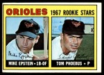 1967 Topps #204   -  Mike Epstein / Tom Phoebus Orioles Rookies Front Thumbnail