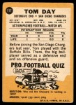 1967 Topps #117  Tom Day  Back Thumbnail