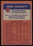 1973 Topps #267   -  Mike Garrett Boyhood Photo Back Thumbnail