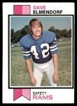 1973 Topps #365  Dave Elmendorf  Front Thumbnail