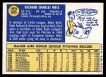 1970 Topps #605  Rick Wise  Back Thumbnail