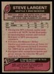 1977 Topps #177  Steve Largent  Back Thumbnail