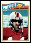 1977 Topps #165  Steve Grogan  Front Thumbnail