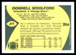 1989 Topps Traded #37 T Donnell Woolford  Back Thumbnail