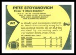 1989 Topps Traded #84 T Pete Stoyanovich  Back Thumbnail