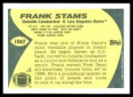 1989 Topps Traded #106 T Frank Stams  Back Thumbnail