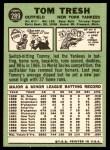1967 Topps #289  Tom Tresh  Back Thumbnail