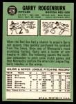 1967 Topps #429  Garry Roggenburk  Back Thumbnail