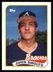 1989 Topps #382  John Smoltz  Front Thumbnail
