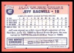1991 Topps Traded #4 T Jeff Bagwell  Back Thumbnail