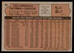 1972 Topps #561  Leo 'Chico' Cardenas  Back Thumbnail