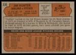 1972 Topps #330  Catfish Hunter  Back Thumbnail