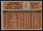 1972 Topps #742  Jim Rooker  Back Thumbnail