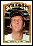 1972 Topps #264  Tommy John  Front Thumbnail