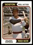 1974 Topps #83  Orlando Cepeda  Front Thumbnail