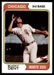 1974 Topps #582  Bucky Dent  Front Thumbnail