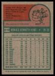 1975 Topps #610  Ron Hunt  Back Thumbnail